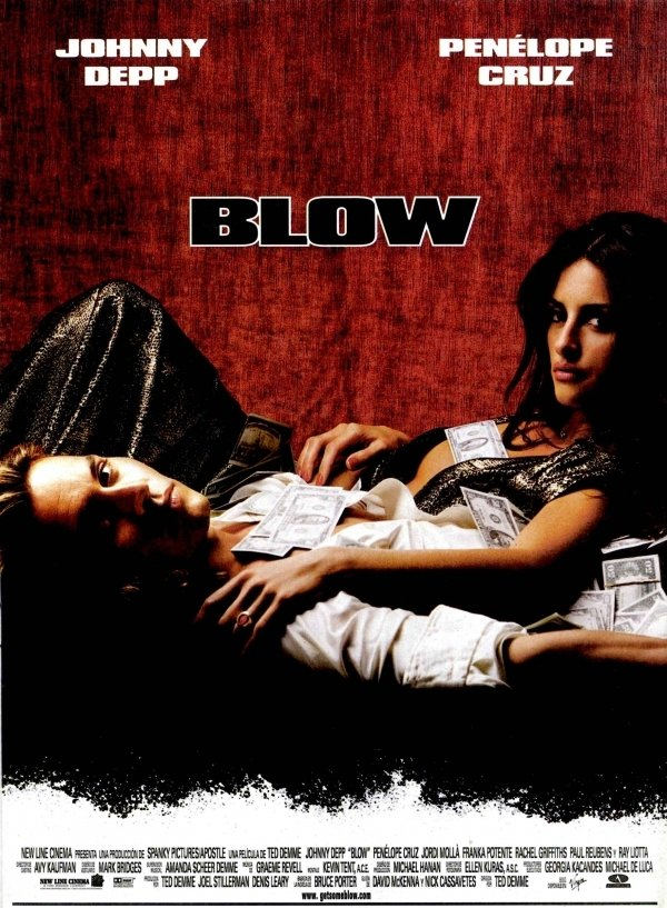 "Poster for the movie ""Blow"""